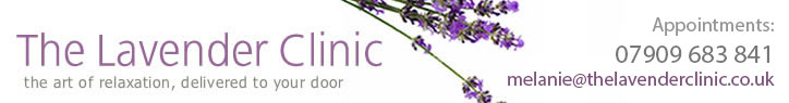 The Lavender Clinic: Mobile relaxation therapies - massage, hopi ear candling, hot stone therapy, reflexology, aromatherapy, ayurvedic facial massage and indian head massage, Cambridge, Newmarket, Ely, Cambs